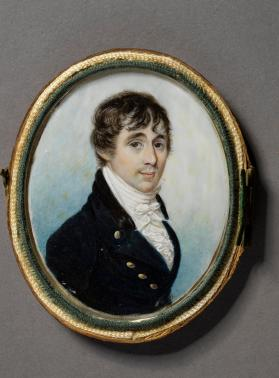 Portrait miniature of young man