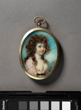 Portrait miniature of young woman