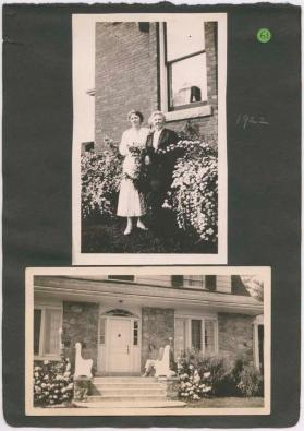 "Leaf 26, Clara and her mother and ""Emily's house in-the-woods"""