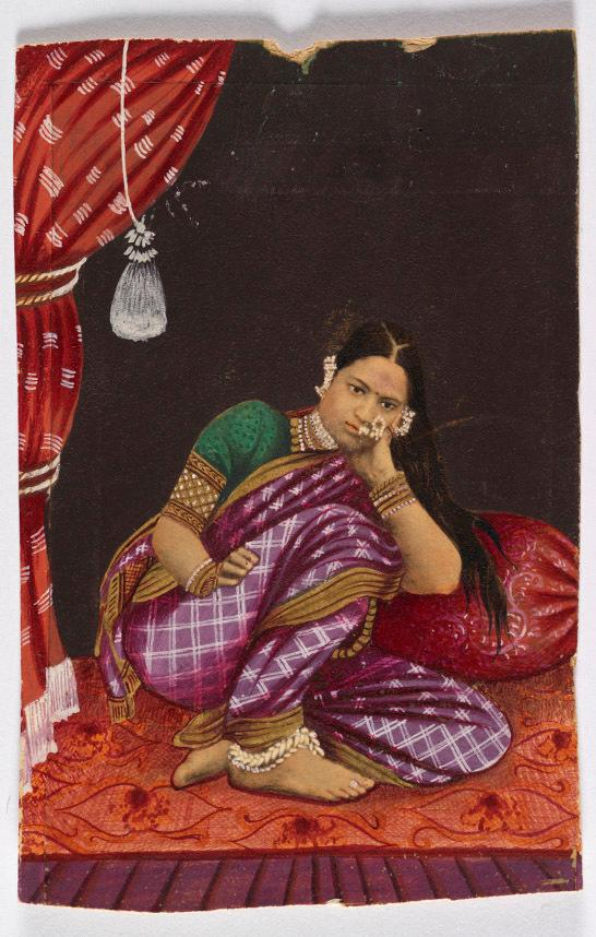 Carte De Visite Of A South Indian Dancing Girl