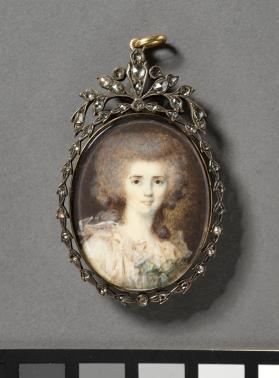 Miniature portrait of a young woman
