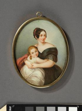 Portrait miniature depicting the Duchess of Sayn-Witgenstein and her daughter