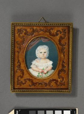 Portrait miniature of baby girl