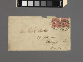 Autograph envelope to Herr Wilhelm Gunther from Franz Wilhelm Abt (German, 1819 - 1885)