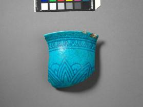 Rim fragment from a bowl with lotus motif