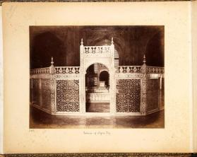 "Interior view inside the Taj Mahal from photographic album of ""Views of India"""