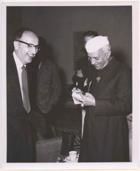 Prime Minister Jawaharlal Nehru at a USIS event