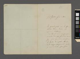 Autograph letter to Mr. van Dore from Friedrich von Flotow