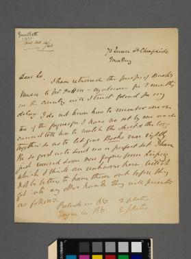 Autograph letter to Mr. Lonsdale from Henry John Gauntlett