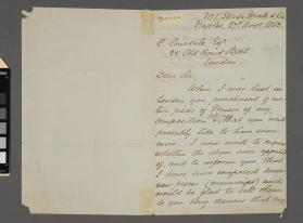 Autograph letter to Christopher Lonsdale from Alfonso Guercia
