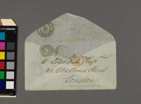 Autograph envelope to Christopher Lonsdale from Alfonso Guercia