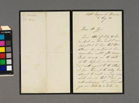Autograph letter to Ernest Gye from Sir Charles Halle