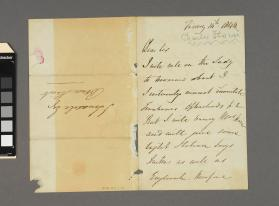 Autograph letter to Mr. Lonsdale Esq. from Charles Edward Horn