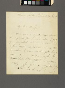 Autograph letter to Frederick Gye from Louis Jullien