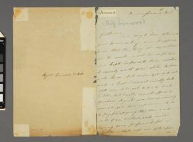 Autograph letter to Messrs Lonsdale and Mills from Mary Linwood