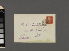 Envelope addressed to R. E. Lonsdale