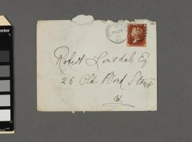 Envelope addressed to Robert Lonsdale