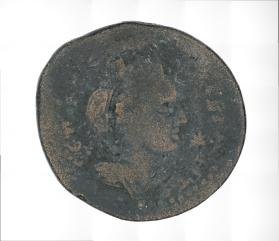 Coin of Julia Mamaea with reverse bust of city-goddess turreted and veiled