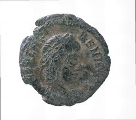 Postumous coin honouring Helena, mother of Constantine I