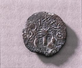 Coin with chalice and lulav