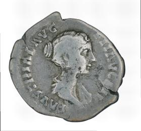 Denarius of Faustina II with reverse of Venus standing to left