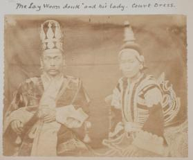 Portrait of the Lay Woon douk and his lady