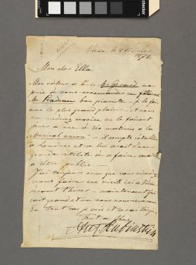 Autograph letter to 'Ella' from Anton Rubinstein