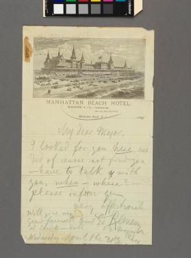 Autograph letter to 'My Dear Mayor' from Edouard Remenyi