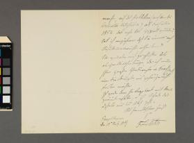 Autograph letter to '…Timm' from Frederic Louis Ritter