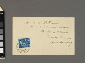 Autograph envelope addressed to R. S. Williams from Prof. Otakar Sevcik