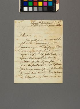 Autograph letter to C. P. Kittner from George Onslow