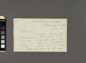 Autograph letter to an unidentified gentleman from Charles Reade