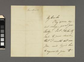 Autograph letter to an unidentified gentleman from John Sims Reeves