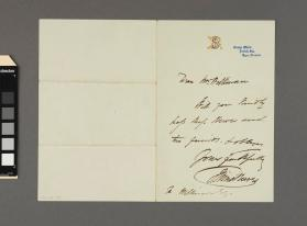 Autograph letter to a gentleman [illegible] from John Sims Reeves