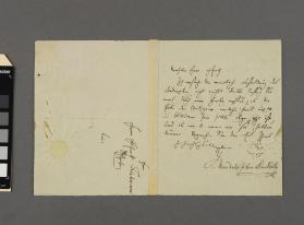 Autograph letter to Mr. Teichmann from Felix Mendelssohn