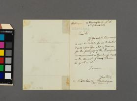 Autograph letter to Christopher Lonsdale from Wilhelm Bernhard Molique