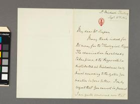 Autograph letter to Mr. Simpson from Sir Frederick A. Gore Ouseley