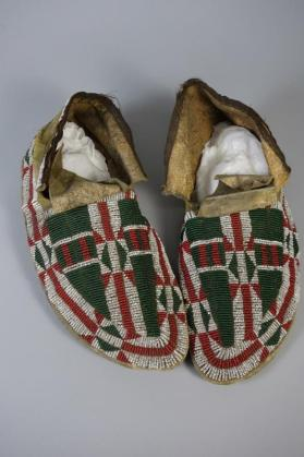 Moccasins made by one of Sitting Bull's daughters