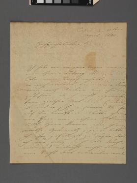 Autograph letter to Franz Hartmann from Louis Spohr