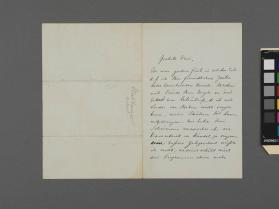 Autograph letter to an unidentified woman from Julius Stockhausen
