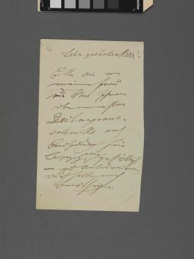Autograph letter to an unidentified gentleman from Edouard Strauss