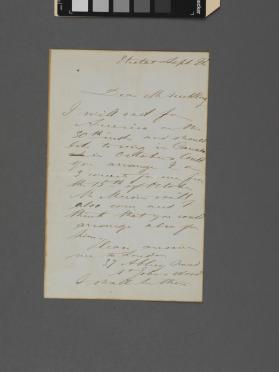 Autograph letter to Mr. Suckling from Zelia Trebelli