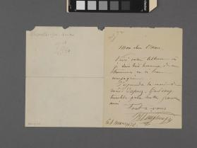 Autograph letter to 'Ethan' from Henry Vieuxtemps