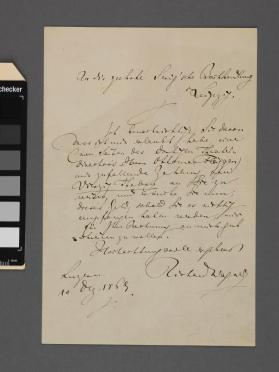Autograph letter to a gentleman (illegible) from Richard Wagner