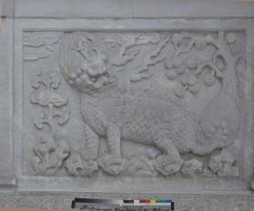 Carved panel of tomb gate