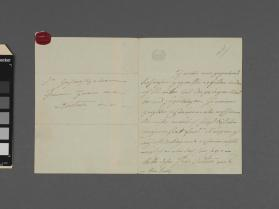 Autograph letter to an unidentified person from Henrietta Sontag