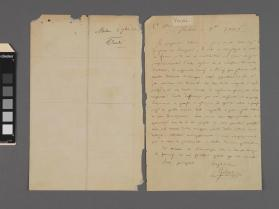 Autograph letter to an unidentified person from Giuseppe Verdi