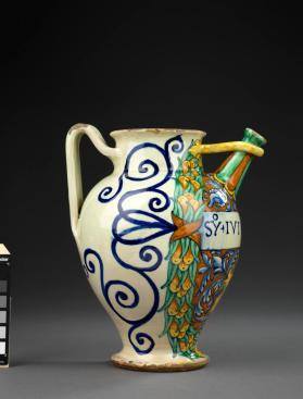 Spouted Jug (brocca or orciuolo da farmacia)) for 'Syr Ivivbino' (syrup of Jujube)