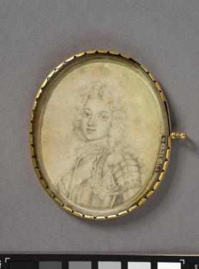 Portrait miniature of a boy in grey armour