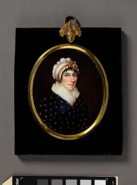 Portrait miniature depicting Mrs. Jemima Corolam Tuck